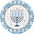 Creative Converting 345758 Dinner Plate Hanukkah Celebration