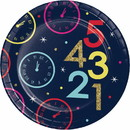 Creative Converting 345857 Luncheon Plate New Year Countdown