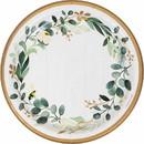 Creative Converting 346143 Dinner Plate Eucalyptus Greens
