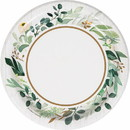 Creative Converting 346144 Luncheon Plate Eucalyptus Greens