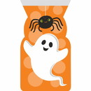 Creative Converting 346162 Cello Bag With Zipper, Spider And Ghost Decor