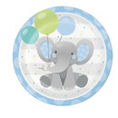 Creative Converting 346222 Dinner Plate Enchanting Elephants Boy
