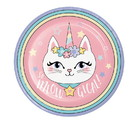 Creative Converting 346248 Dinner Plate Sassy Caticorn