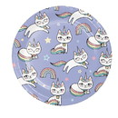 Creative Converting 346249 Luncheon Plate Sassy Caticorn