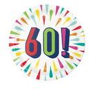 Creative Converting 346336 Luncheon Plate, 60 Birthday Burst