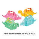 Creative Converting 346439 Treat Box 3D Girl Dino Party