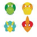 Creative Converting 346446 Foam Masks Boy Dino Party