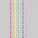 Creative Converting 348338 Assorted Colors Striped Paper Straws Straws - Striped Asst Colors/White