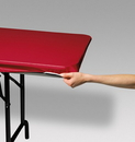Creative Converting 37427 Regal Red Stayput Plastic 29x72 Tablecover (Case of 12)