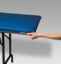 Creative Converting 37442 Royal Blue Stayput Plastic 29x72 Tablecover (Case of 12)