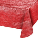 Creative Converting 38327 Décor Tablecover, Metallic Red, 54