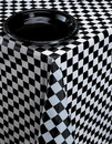 Creative Converting 39197 Black Check Plastic Tablecover Aop 54 X 108 (Case of 12)