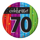 "Creative Converting 410783 Milestone Celebrations 7"" Lunch Plates (Case of 96)"