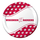 """Creative Converting 424858 Wisconsin 8.75"""" Dinner Plates (Case of 96)"""