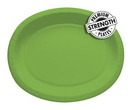"""Creative Converting 433123 Fresh Lime 12"""" Oval Platters (Case of 96)"""