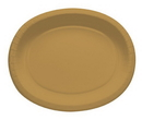 """Creative Converting 433276 Glittering Gold 12"""" Oval Platters (Case of 96)"""