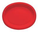 "Creative Converting 433548 Classic Red 12"" Oval Platters (Case of 96)"