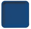 """Creative Converting 453278 Navy 7.25"""" Square Lunch Plates (Case of 180)"""