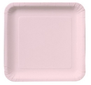 """Creative Converting 463274 Classic Pink 9"""" Square Dinner Plates (Case of 180)"""