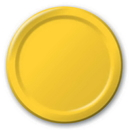 Creative Converting 471021B School Bus Yellow Dinner Plate, Solid (Case of 240)