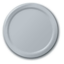 Creative Converting 47106B Shimmering Silver Dinner Plate, Solid (Case of 240)