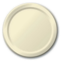 Creative Converting 50161B Ivory Banquet Plate, Solid (Case of 240)