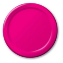 Creative Converting 50177B Hot Magenta Banquet Plate, Solid (Case of 240)