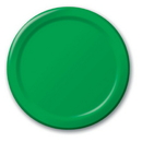 """Creative Converting 533261 Emerald Green 7"""" Lunch Plates (Case of 96)"""