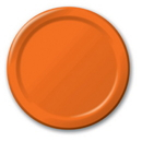 """Creative Converting 533282 Sunkissed Orange 7"""" Lunch Plates (Case of 96)"""
