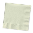 Creative Converting 57161B Ivory Beverage Napkin, 3 Ply, Solid (Case of 500)