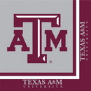 Creative Converting 664848 Texas A & M 2-Ply Lunch Napkins (Case of 240)