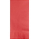 Creative Converting 673146B Coral Dinner Napkins 2Ply 1/8Fld, CASE of 600