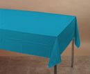 Creative Converting 723131 Turquoise Plastic Tablecover 54 X 108 Solid (Case of 12)
