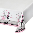 Creative Converting 725584 Party In Paris Tablecover Pl 54