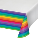 Creative Converting 725972 Rainbow Tablecover Pl 54