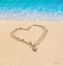 """Creative Converting 727363 Beach Love 54"""" x 108"""" Plastic Tablecover (Case of 6)"""
