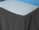Creative Converting 733260 Black Velvet Plastic Tableskirt 21.5' Solid (Case of 6)
