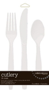 Creative Converting 810418 Clear Cutlery Assortment (Case of 216)