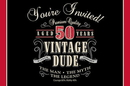 Creative Converting 891567 Vintage Dude 50th Invitations (Case of 48)