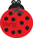 Creative Converting 895019 Ladybug Fancy Invitations (Case of 48)