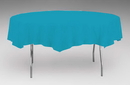 Creative Converting 923131 Turquoise Tissue/Poly Tablecover 82