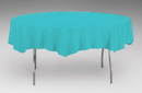 Creative Converting 923522 Bermuda Blue Tissue/Poly Tablecover 82