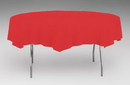 Creative Converting 923548 Classic Red Tissue/Poly Tablecover 82