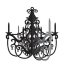 Creative Converting 990584 Party In Paris Hanging Chandelier, CASE of 12
