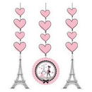 Creative Converting 995584 Party In Paris Hanging Cutouts, CASE of 18