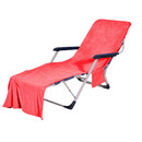 Muka Microfiber Swimming Pool Lounge Chair Cover Quick Drying Beach Towel with Side Pockets