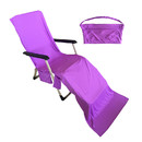 Muka Beach Lounge Chair Cover Quick Drying Cool Patio Chaise Towel Cover for Holiday Sunbathing