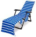 Muka Microfiber Striped Beach Pool Lounge Chair Towel Cover Portable Beach Chair Blanket Bath Towel for Swimming Sunbathing, 29