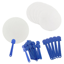 Aspire White Paper Paddle Fans for Painting (30 - 600 Pieces) DIY Wedding Hand Fans