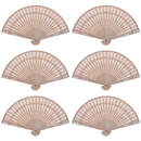 Aspire 24 Pieces Sandalwood Folding Fans, Wedding / Party Hand Held Fan